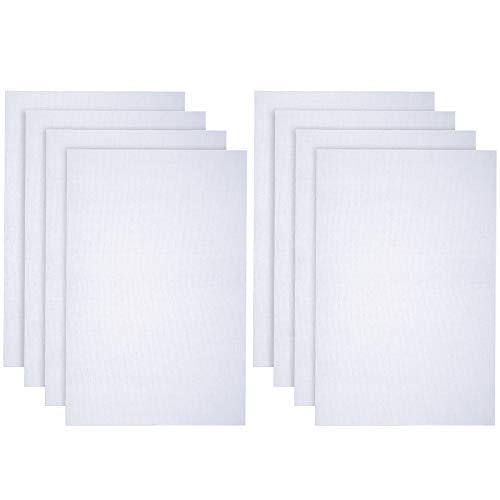 Caydo 8 Pieces 14 Count Classic Reserve Aida Cloth Cross Stitch Cloth, White, 12 Inch x 18 Inch