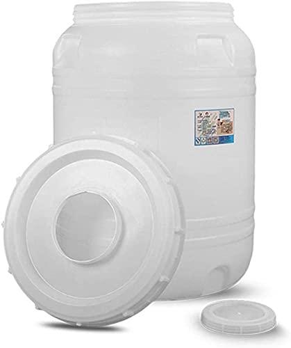 WXking Cubo de plástico de Gran Capacidad, Cubo de Agua portátil de 165L con Tapa, contenedor de Agua de Polietileno de Alta Densidad, ácido Duradero y Cubo químico Resistente al kaliz