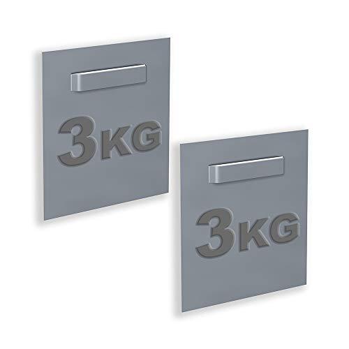 Wolff & Stübecke Halterungen für Dibond und Spiegel, 70 x 70 mm, 2 Stück: max. Traglast 3 kg