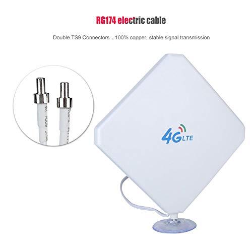 3G 4G 35dBi High Gain WiFi-routerantenne Dubbele TS9-verbindingen, WiFi-hotspotmodemversterkerantenne met zuignap