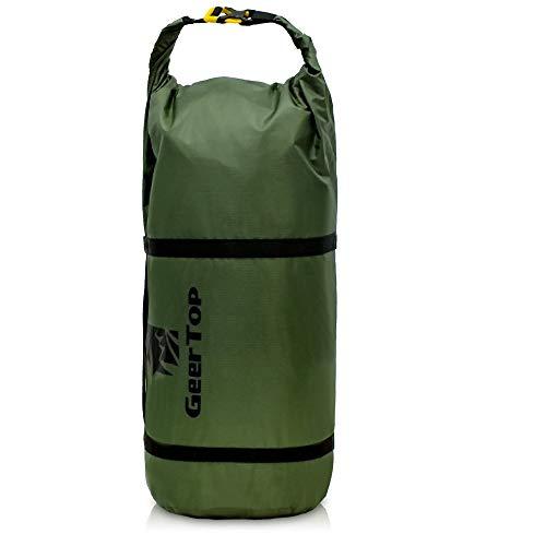 GEERTOP コンプレッションバッグ テント収納バッグ ドライバッグ スタッフサック 圧縮バッグ ダッフルバッグ 防水バッグ テント圧縮バッグ 寝袋用 キャンプ用品 調整可能 軽量 アウトドア スポーツ用