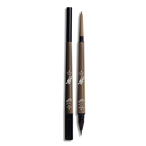 2 in 1 Eyebrow Pencil Tint 1.5mm Fine Tip Microblading Pen Waterproof 24h Long-lasting (Pack of 1)