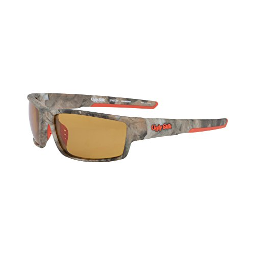 Ugly Stik Spartan Sunglasses Matte Camo/Amber, Medium/Large