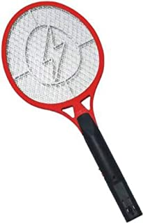 King Shine Rechargeable Electric Mosquito Racket Bug Zapper Fly Swatter and Insect Killer Bat (Multicolour)