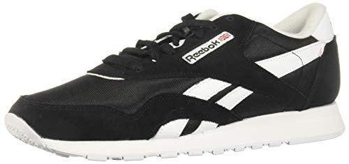 Reebok Herren Classic Nylon Sneaker, Black/White/None, 43 EU