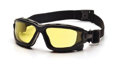Pyramex I-Force Slim Safety Goggle, Black Frame/Amber Anti-Fog Lens by Pyramex Safety