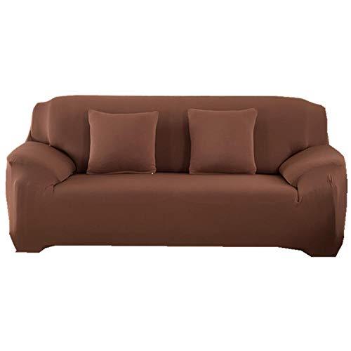 LJXJ Fundas de sofá de 1, 2 y 3 Asientos,Elastic Sofa Cover, All-Inclusive Stretch Sofa Cover, Sofa Cover Sofa Towel, Living Room Sofa Cover-Chocolate_4-Seater