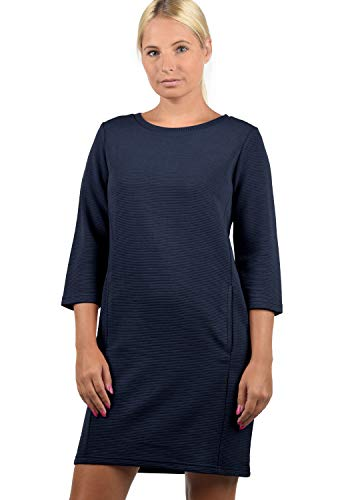 ONLY Swane Damen Sweatkleid Sommerkleid Kleid Mit Rundhals, Größe:S, Farbe:Night...