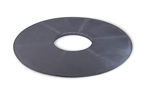 Moesta-BBQ 10656 - BBQ Disk Feuerplatte Einzeln - Plancha 6mm Gusseisen-Platte für Kugel-Grill/Grillfass/Kettlegrill