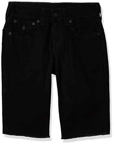 True Religion Ricky Straight Leg Short with Back Flap Pocket Pantalones Cortos de Jean para Hombre