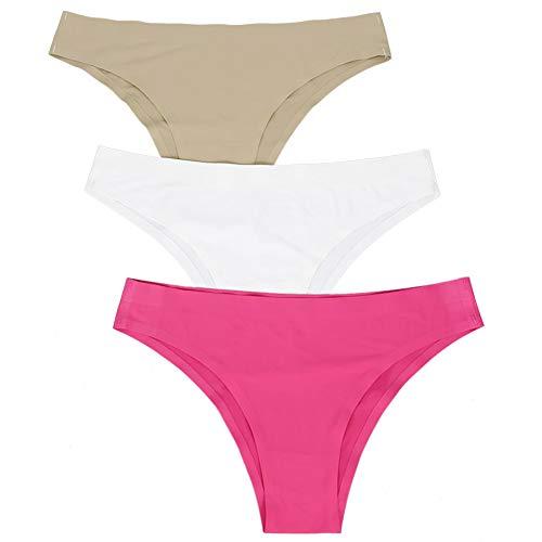 Naadloze broches Smurper-vrouwen 3pcs / Lot normale lak naadloos schriftets lage taille vrouwelijke ondergoed ijs silk wasgoed