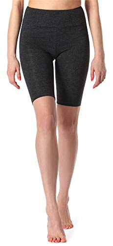 Merry Style Leggins Cortos Malla Deportiva Short Mujer MS10-219(Melange Oscuro,3XL)