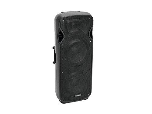 Omnitronic VFM-2215AP 2-Wege Lautsprecher, aktiv | Box mit Player und Bluetooth, 2 x 15