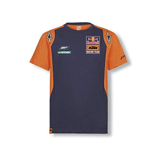 Red Bull KTM Official Teamline Camiseta, Azul Niños Tamano 164 Top, KTM...
