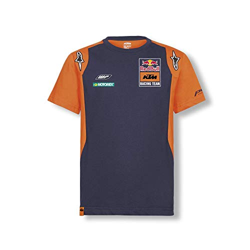 Red Bull KTM Official Teamline T-Shirt, Blau Youth Größe 116 T-Shirt, KTM Racing Team Original Bekleidung & Merchandise