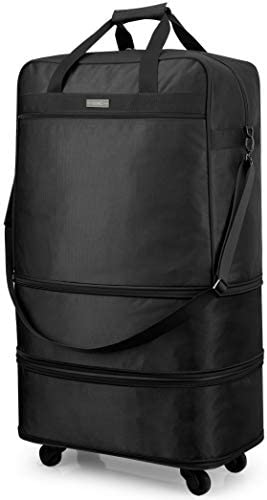 Hanke Expandable Foldable Suitcase Luggage Rolling Travel Bag Duffel Bag for Men Women Lightweight Suitcase Large Capacity Luggage with Universal Wheel