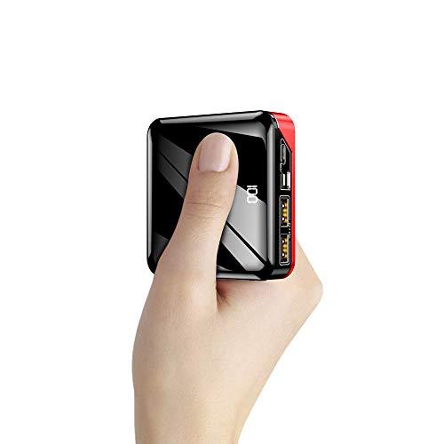 モバイルバッテリー 軽量 iphone 急速充電器 10000mAh 大容量 小型 バッテリー 3in1入力ポート(Lightning/micro USB/Type-C)【PSE認証済】 LCD残量表示 鏡面仕上げ スマホ充電器 2USBポート 最大2.4A出力 二台同時充電 持ち運び便利 携帯充電器 iPhone/iPad/Android機種対応