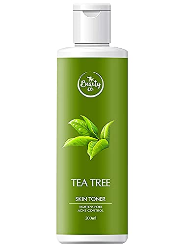 The Beauty Co. Tea Tree Toner for Acne-Free Skin, 200 ml | Alcohol Free | Cleanser | Face Toner | Made in India