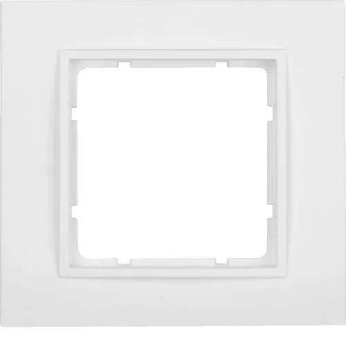 Hager B7 Berk 10116919 B.7 polarweiss matt Rahmen, Weiß