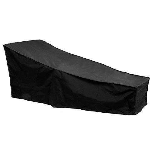 MondayUp - Funda para Tumbona de jardín, Impermeable, Transpirable, Tela Oxford, Color Negro