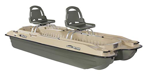 Pelican - Boat BASS Raider 10E - 2 Person Fishing Boat - 10 ft -Comes with Swivel Fishing Rod Holder - Prewired Motor Mount, Khaki/Beige, Model Number: BBA10P205-00