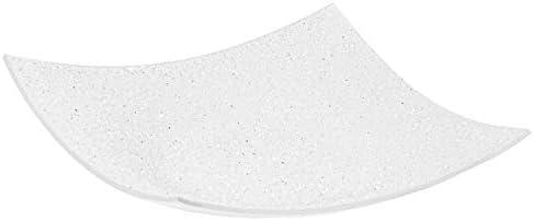 Oneclod - Centro de mesa moderno de cristal y cristales curvados con técnica Murano Made in Italy con piedras de cristales retro pintado blanco para fruta, elegante objeto de diseño, idea regalo