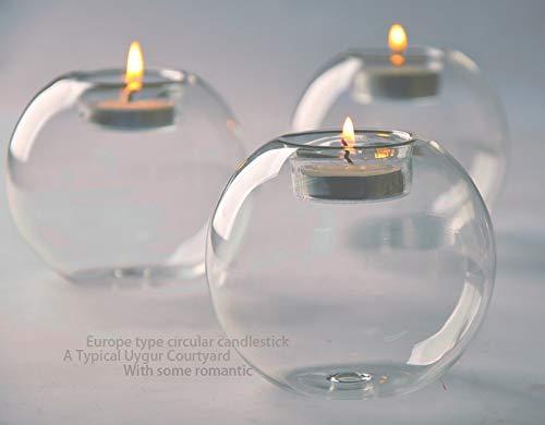 FGF-EU Portacandela in vetro cristallo classica candela candelabro vacanza decorazione per matrimonio da pranzo tavolino party decor- 1pz