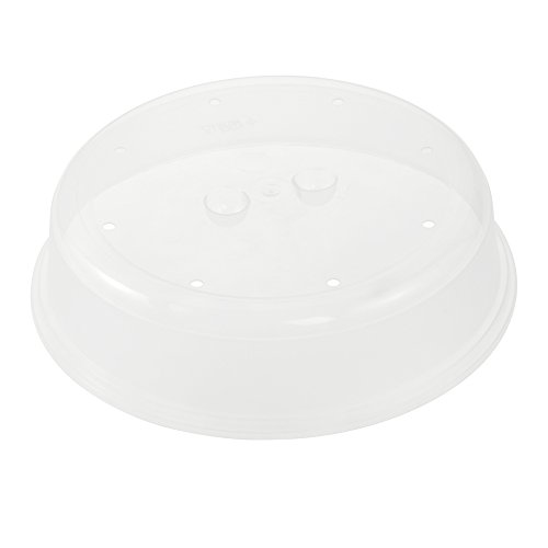 keeeper Cloche pour Micro-Ondes, Plastique Robuste (PP), Ø 26,5 x 6,5 cm, Bella, Natural Transparent