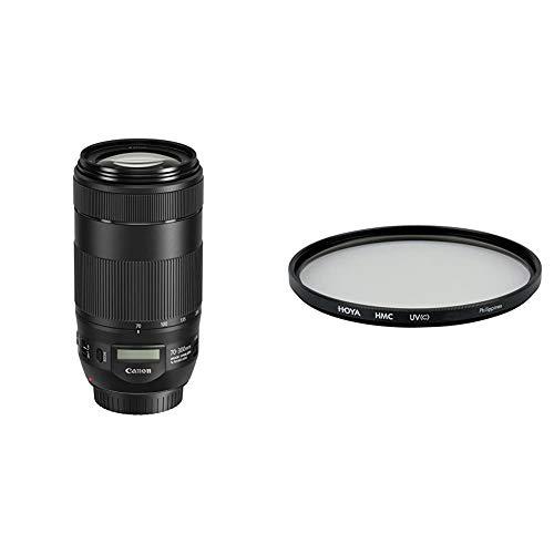 Canon Telezoomobjektiv EF 70-300mm F4-5.6 is II USM für EOS (67mm Filtergewinde, AF-Motor, Nano USM) schwarz & Hoya HMC UV (C) Objektiv (67 mm Filter)