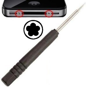 itronik® Pentalobe Schraubendreher Schraubenzieher kompatibel mit MacBook iPhone 4 4s 5 5S 5SE Werkzeug 5-Kant Torx