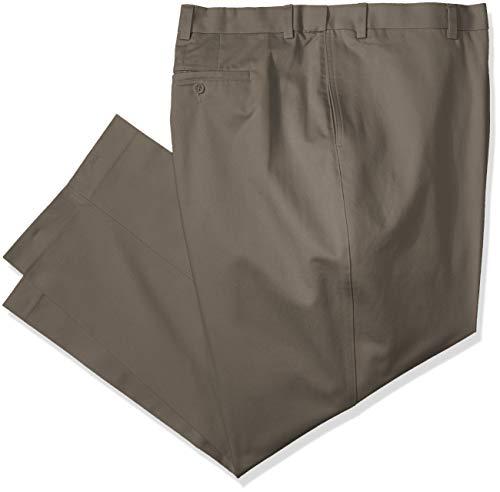 SAVANE Big & Tall Arruga Libre Soporte de Parte Delantera Hombres Twill–Pantalones para Hombre - Verde -