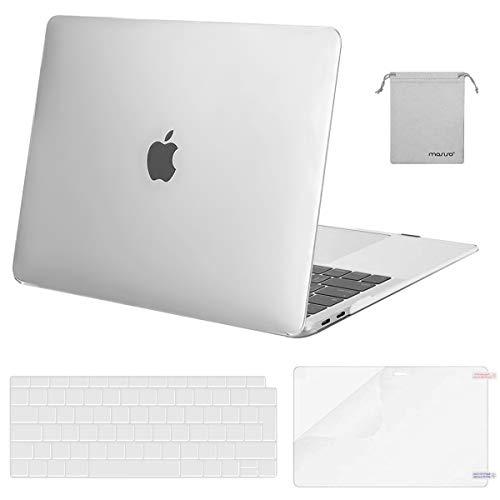 MOSISO Hulle Kompatibel mit 2020 2019 2018 MacBook Air 13 A2337 M1 A2179 A1932Plastik KofferTastaturschutzDisplayschutzLagertasche Kompatibel mit Mac Air 13Frost