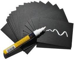Pizarra portaprecios negra reutilizable con rotulador blanco. (100 uds) (52x74mm)