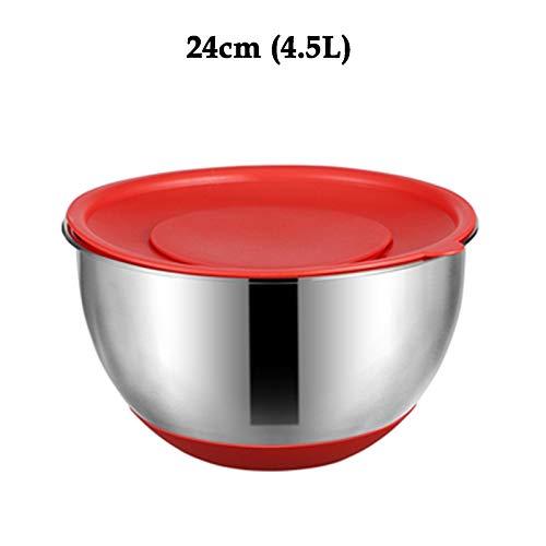 Stainless Steel Mixing Bowl With Sealed Lid Fruit Salad Blender Storage Bowl Set Cooking, Baking And Food Storage R