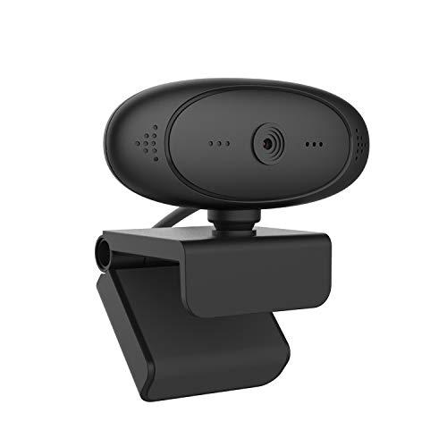 WANGLAI Cámara Web 1080P HD Auto Focus, cámara de computadora con micrófono, cámara USB Plug and Play, Video Llamada y grabación para computadora portátil de Escritorio