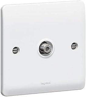 SAT socket Synergy - single - ''F'' type - white