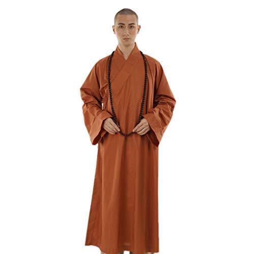 ZanYing Shaolin Monk Kung fu Bichounic Lama - Albornoz Unisex - Naranja - X-Large