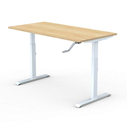 ErgoYou - Height Adjustable Table | Manual | 2 Stage | Ergonomic Sit-Stand Desk | Imported |...