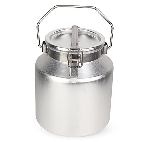 XKMY Contenedores de almacenamiento de cocina 5L aleación de aluminio Transportable leche fermentación barril cubo con mango almacenamiento aceite leche arroz barril