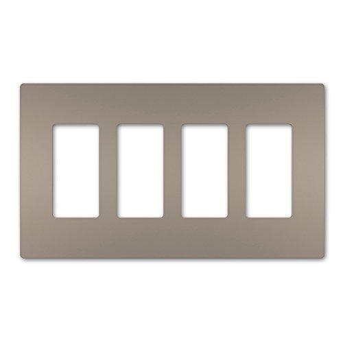 On-Q/Legrand RWP264NI - Placa de pared radiante sin tornillos, 4 unidades, níquel