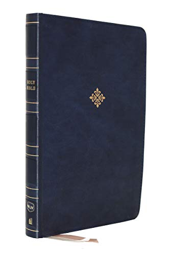 Holy Bible: NKJV Thinline Reference Bible, Leathersoft, Blue, Red Letter Edition, Comfort Print