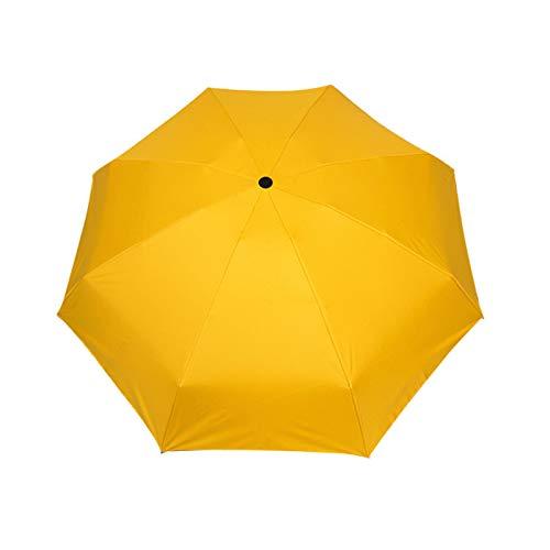 Raburt Paraguas pequeño para la playa con cinco pliegues y protección contra los rayos UV