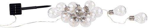 Lunartec Solar Lichterkette Retro: Solar-LED-Lichterkette im Glühbirnen-Look, 12 Birnen, warmweiß, 8,5 m (Lichterkette Retro Outdoor)