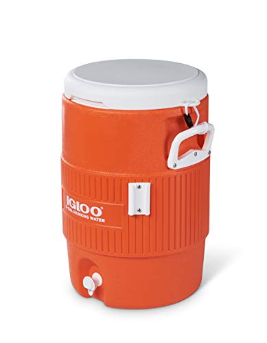 Product Image of the Igloo 5 Gallon Portable Sports Cooler Water Beverage Dispenser with Flat Seat Lid, Bright Orange