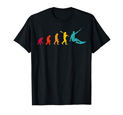 Retro Wakeboard Evolution Geschenk Wakeboarder Wakeboarding T-Shirt