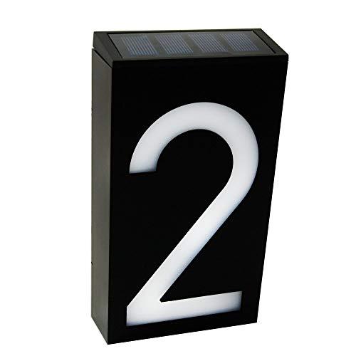 KEEDA LED Numero Civico con illuminazione a 6 LED Energia Solare, Numeri di Casa, House Sign Plaque Lampada Solare
