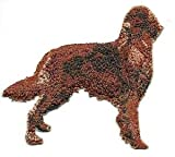 VirVenture 3' x 3' Irish Red Setter Dog Breed Embroidery Patch Great for Hats, Backpacks, and Jackets.