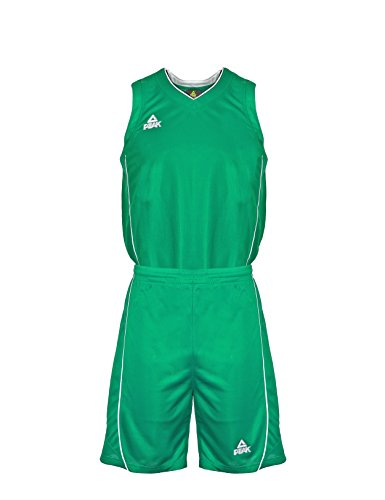 Peak Sport Europe Herren Basketball Uniform Set Trikot und Shorts Team, Green, XXXL