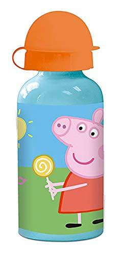 ML Botella de Agua de Aluminio para niños y niñas Peppa Pig, 0.4 L cantimplora térmica a Prueba de Fugas sin BPA para Levar a la Escuela y Deportes el Termo/400