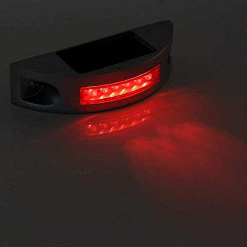 道路ライト 6LED LEDソーラーライトIP68 路面表示灯 道路表示灯 視線誘導? 芝生ランプ 歩道ライト?ソーラー充電 防水 省エネ 耐久性 おしゃれ 夜間 耐重量 駐車場 (?色)